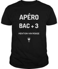 Apro Bac 3 Mention Vin Rouge  Unisex