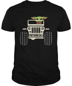 Baby Yoda Driving Jeep  Unisex