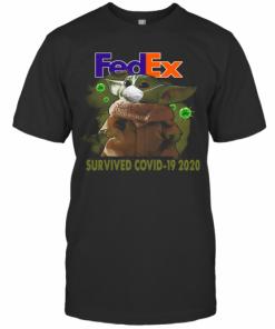 Baby Yoda Fedex Survived Covid 19 2020 T-Shirt Classic Men's T-shirt