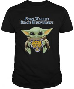 Baby Yoda Hug Fort Valley State University  Unisex