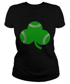 Baseball St Patricks Day Shamrock Irish Baseball  Classic Ladies