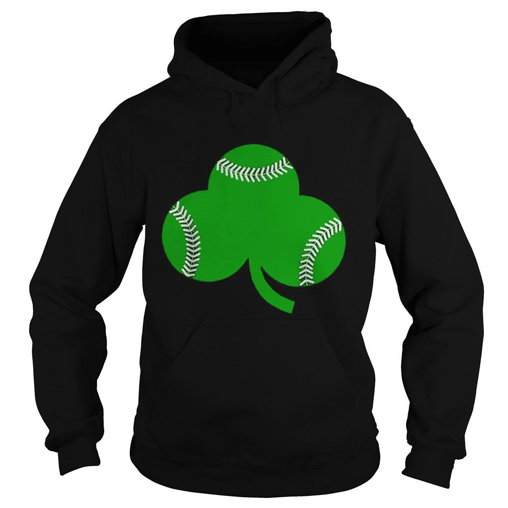Baseball St Patricks Day Shamrock Irish Baseball Hoodie