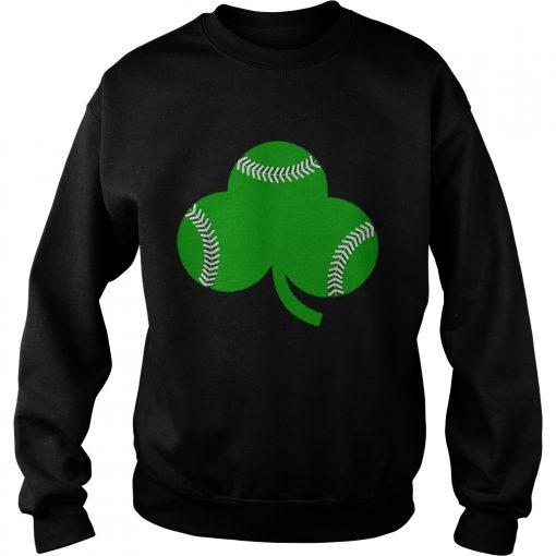 Baseball St Patricks Day Shamrock Irish Baseball  Sweatshirt