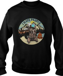 Bear Toilet Paper And I Hate People  Sweatshirt