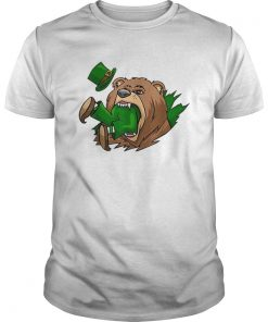 Beautiful Bear Eating Leprechaun St Patricks Day  Unisex