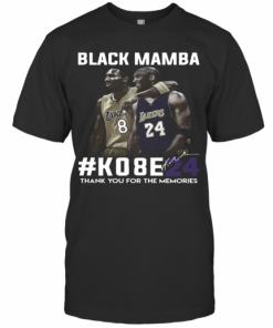 Black Mamba #Ko8e24 Thank You For The Memories T-Shirt Classic Men's T-shirt