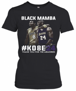 Black Mamba #Ko8e24 Thank You For The Memories T-Shirt Classic Women's T-shirt