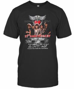 Bon Jovi 37Th Anniversary 1983 2020 Thank You For The Memories Signatures T-Shirt Classic Men's T-shirt