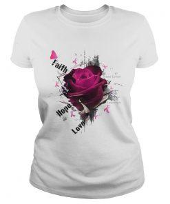 Breast Cancer Awareness Faith Hope Love Roses  Classic Ladies