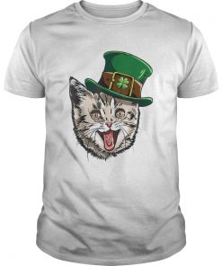 Cat Leprechaun St Patricks Cattys Catricks Day  Unisex