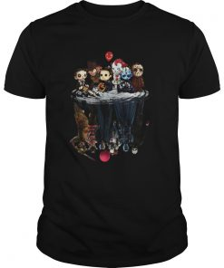 Chibi Horror characters water reflections  Unisex
