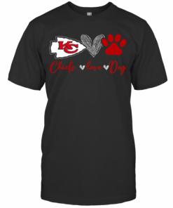 Chieds Peace Love Dog T-Shirt Classic Men's T-shirt