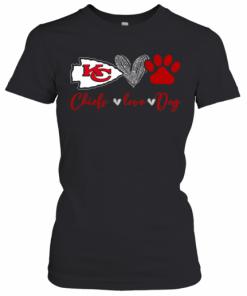 Chieds Peace Love Dog T-Shirt Classic Women's T-shirt
