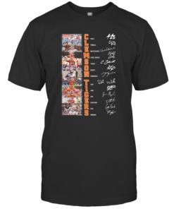 Clemson Tigers All Team Signatures T-Shirt Classic Men's T-shirt