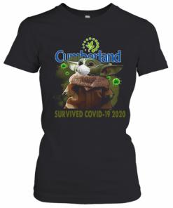 Cute Baby Yoda Cumberland Farms Survived Covid 19 2020 T-Shirt Classic Women's T-shirt
