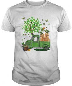 Cute Golden Retriever Truck St Patricks Day  Unisex