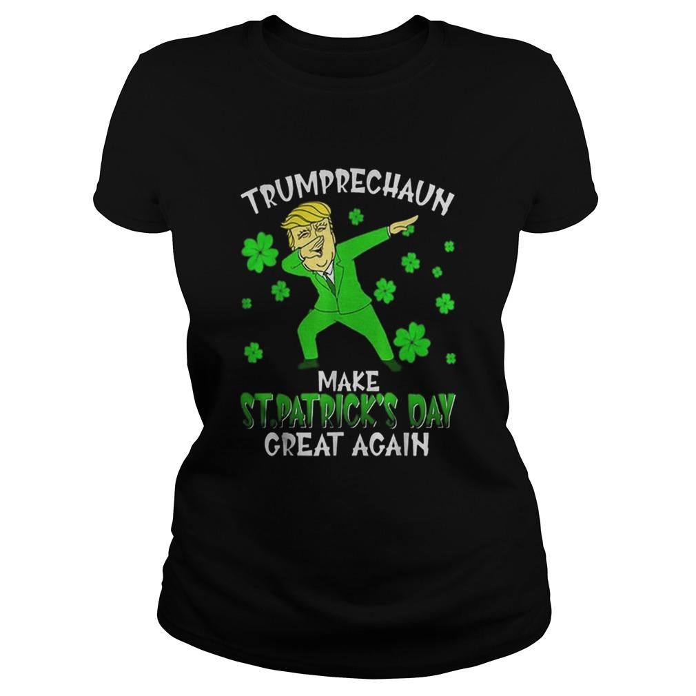 Dabbing Trumprechaun Make St Patricks Day Great Again Classic Ladies