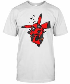 Deadchu Singing Pikachu Marvel Deadpool Mashup T-Shirt Classic Men's T-shirt