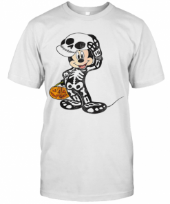 Disney Mickey Mouse Skeleton Costume T-Shirt Classic Men's T-shirt