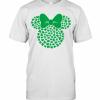 Disney Minnie Mouse Icon Green Shamrocks St. Patrick'S Day T-Shirt Classic Men's T-shirt