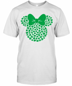 Disney Minnie Mouse Icon Green Shamrocks St. Patrick'S Day T-Shirt Classic Men's T-shirt