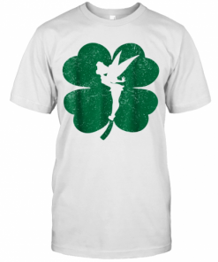 Disney Tinker Bell Green Shamrock St. Patrick'S Day T-Shirt Classic Men's T-shirt