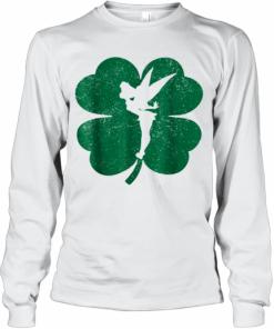 Disney Tinker Bell Green Shamrock St. Patrick'S Day T-Shirt Long Sleeved T-shirt