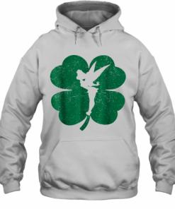 Disney Tinker Bell Green Shamrock St. Patrick'S Day T-Shirt Unisex Hoodie