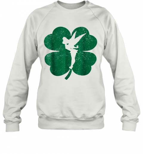 Disney Tinker Bell Green Shamrock St. Patrick'S Day T-Shirt Unisex Sweatshirt