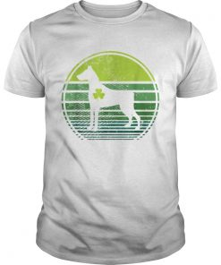 Doberman Pinscher Silhouette Irish Clover St Patricks Day  Unisex