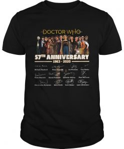 Doctor Who 57th anniversary 1963 2020 Characters signatures  Unisex