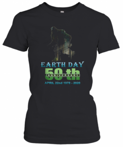 Earth Day 50Th Anniversary Bigfoot Silhouette Bigfoot T-Shirt Classic Women's T-shirt