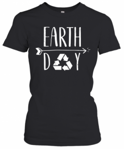 Earth Day 50Th Anniversary Cute Vintage Recycling T-Shirt Classic Women's T-shirt