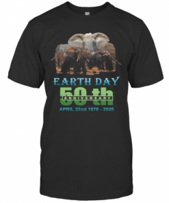 Earth Day 50Th Anniversary Elephant Silhouette Elephant T-Shirt Classic Men's T-shirt