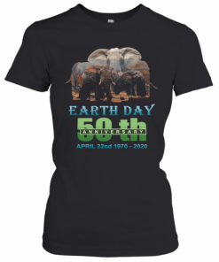 Earth Day 50Th Anniversary Elephant Silhouette Elephant T-Shirt Classic Women's T-shirt
