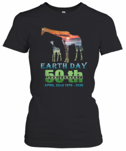 Earth Day 50Th Anniversary Giraffe Silhouette Giraffe T-Shirt Classic Women's T-shirt