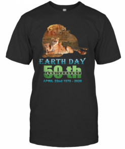 Earth Day 50Th Anniversary Lion Silhouette Lion T-Shirt Classic Men's T-shirt
