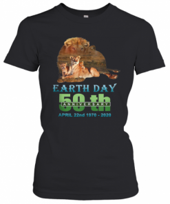 Earth Day 50Th Anniversary Lion Silhouette Lion T-Shirt Classic Women's T-shirt