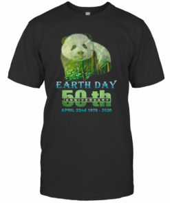 Earth Day 50Th Anniversary Panda Silhouette Panda T-Shirt Classic Men's T-shirt