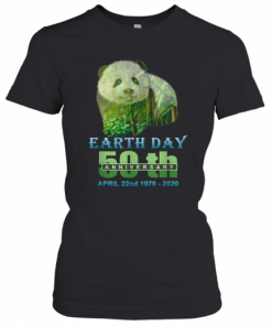 Earth Day 50Th Anniversary Panda Silhouette Panda T-Shirt Classic Women's T-shirt