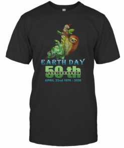 Earth Day 50Th Anniversary Sloth Silhouette Sloth T-Shirt Classic Men's T-shirt