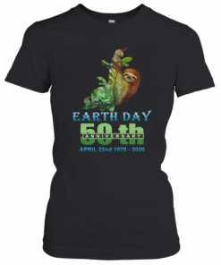 Earth Day 50Th Anniversary Sloth Silhouette Sloth T-Shirt Classic Women's T-shirt