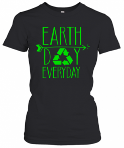 Earth Day Everyday 50Th Anniversary Cute Recycling Teacher T-Shirt Classic Women's T-shirt