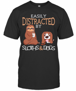 Easily Distracted By Sloths And Dogs T-Shirt Classic Men's T-shirt