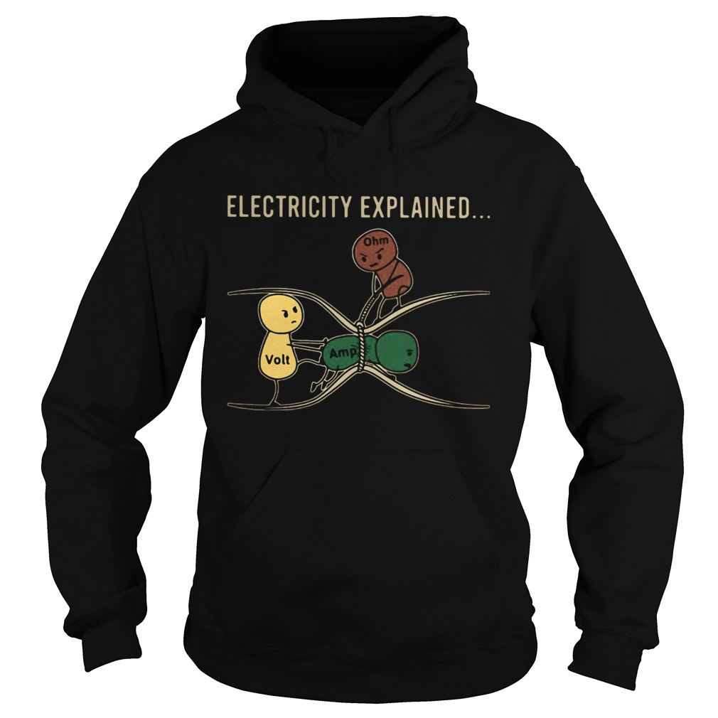 Electricity Explained Electrician Retro Hoodie