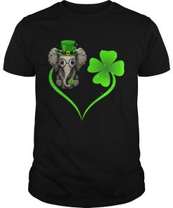 Elephant Lucky Heart Shamrock St Patricks Day  Unisex