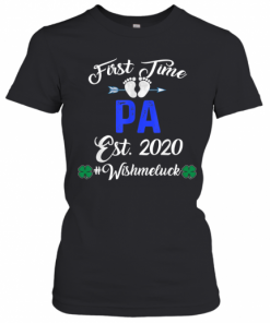 First Time Pa Est 2020 Shirt Father's Day T-Shirt Classic Women's T-shirt