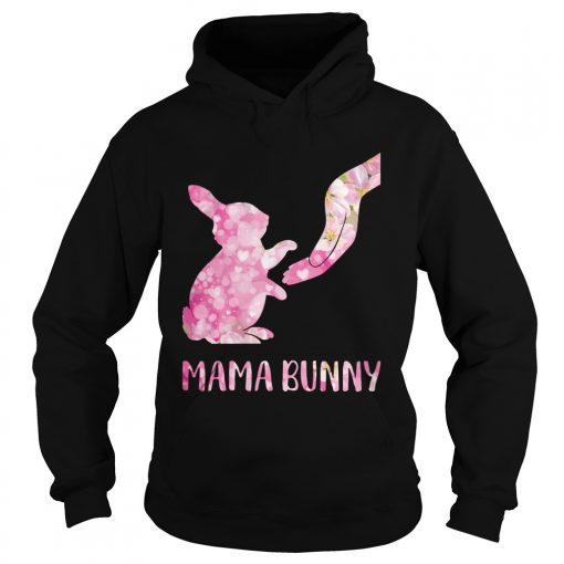 Floral Mama Bunny  Hoodie