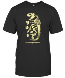 Flu Virus Quarantine Dinosaur Toilet Paper Fossil T-Shirt Classic Men's T-shirt