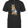 German Shepherd Dog Tattoo I Love Mom T-Shirt Classic Men's T-shirt